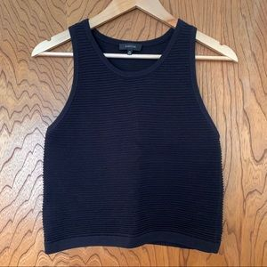 Babaton black ribbed sweater tank